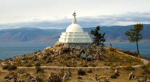 Budd. Stupa Insel vor Olchon