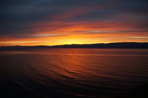 Sonnenuntergang am Baikalsee - Insel Olchon