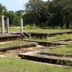 Wasserkanäle um die Gebäude als Klimaanlage aus dem 3. Jahrhundert