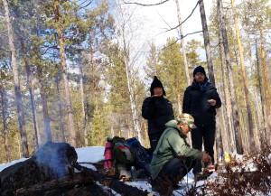 Picknick mit Lagerfeuer und OHNE Bären