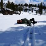 ein Weiterkommen ohne Skier scheint unmöglich