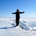auf dem zugefrorenen Baikalsee