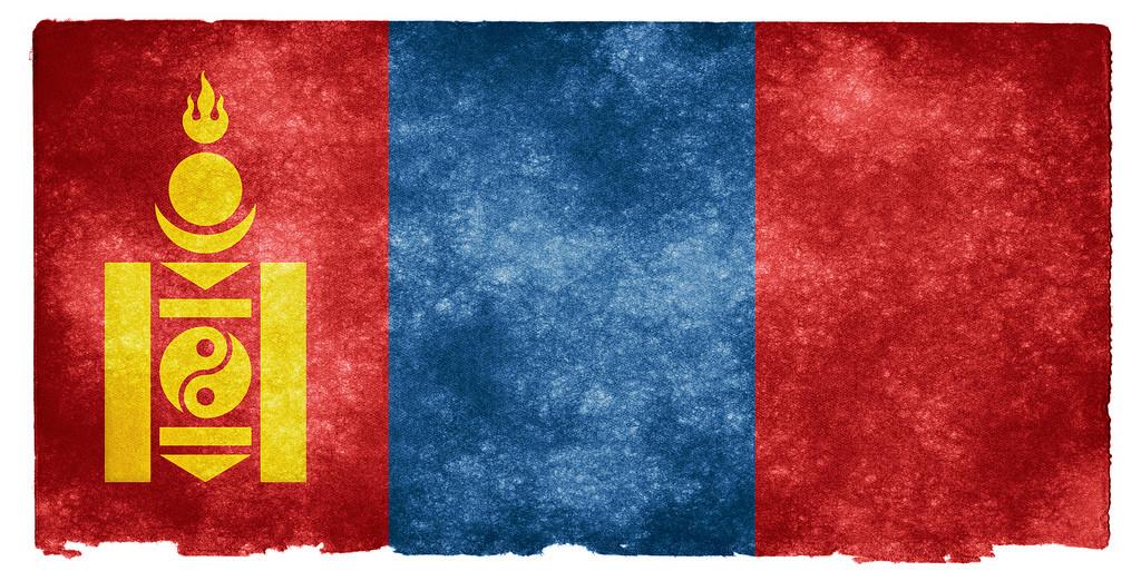 Mongolische Flagge gefilzt