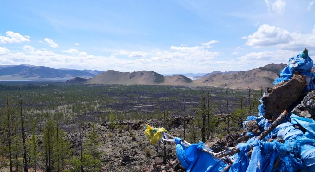 Ausblick vom Vulkan zum Weißen See
