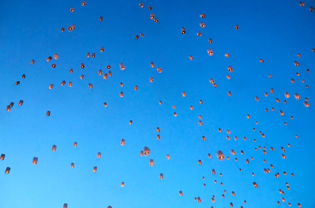 Wünsche werden in den Himmel geschickt