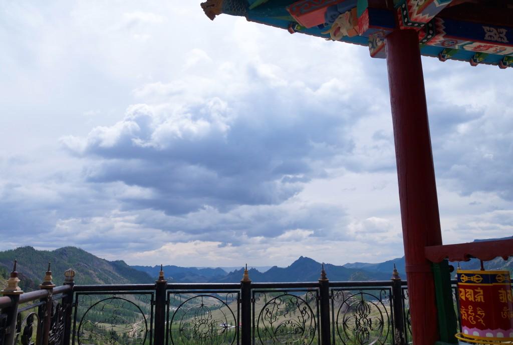 Ausblick vom Tempel