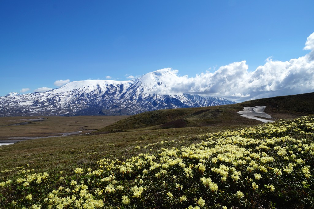 Panoramablick zum Vulkan