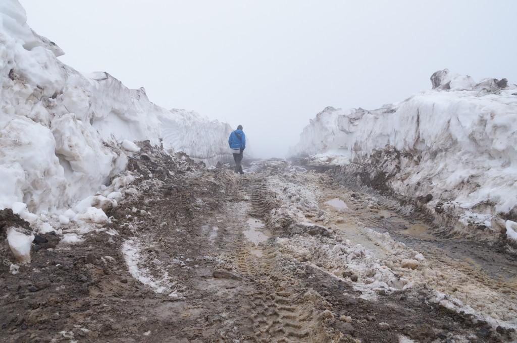 Meter hoher Schnee